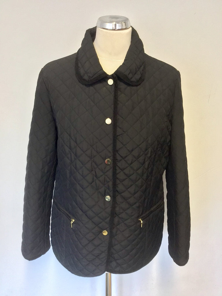 Austin Reed Black Quilted Jacket Size M Whispers Dress Agency