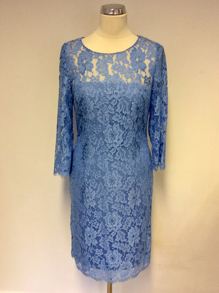 BRAND NEW GINA BACCONI SKY BLUE LACE SPECIAL OCCASION DRESS SIZE 10
