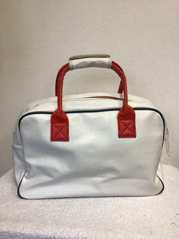 SUPERDRY RED & WHITE HOLDALL/ GYM BAG/ WEEKEND BAG