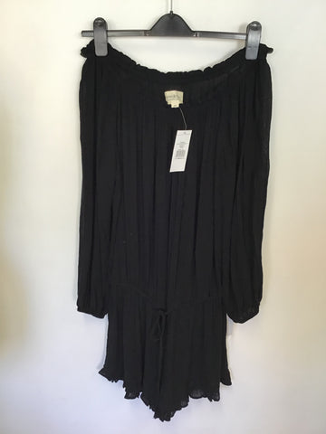BRAND NEW RALPH LAUREN BLACK OFF SHOULDER WITH SHORTS ROMPER/ PLAYSUIT SIZE M