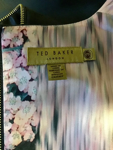 TED BAKER WORKING TITLE DARK GREY WOOL BLEND DRESS SUIT SIZE 3 UK 12