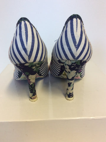 NEW EX DISPLAY IRREGULAR CHOICE STRIPE,SPOT & FLORAL PRINT HEELS SIZE 6/39