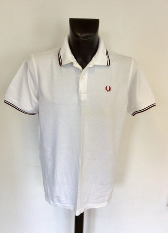 FRED PERRY WHITE COTTON SHORT SLEEVE POLO SHIRT SIZE XXL
