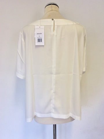 BRAND NEW ARTIGIANO WHITE SHORT SLEEVE TOP SIZE 24