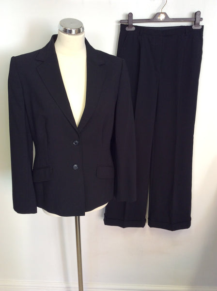 Austin Reed Dark Blue Wool Trouser Suit Size 8 12 Whispers Dress Agency