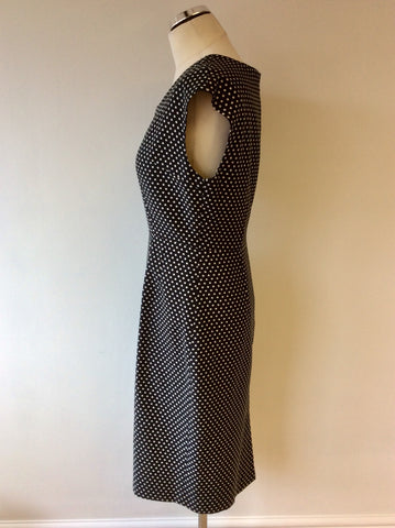 AQUASCUTUM BLACK & WHITE SPOTTED DRESS SIZE 12