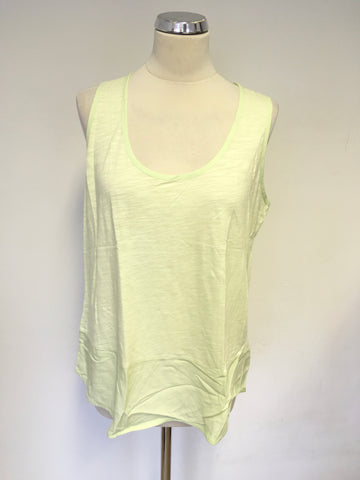 3 X MINT VELVET LIGHT BLUE,PINK & LIME GREEN SHORT SLEEVE & SLEEVELESS T SHIRTS SIZE 14