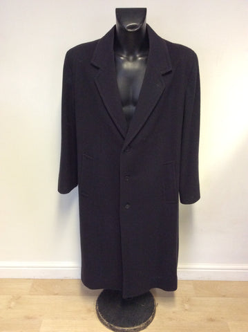 PERRY ELLIS DARK BLUE MERINO WOOL COAT SIZE 40