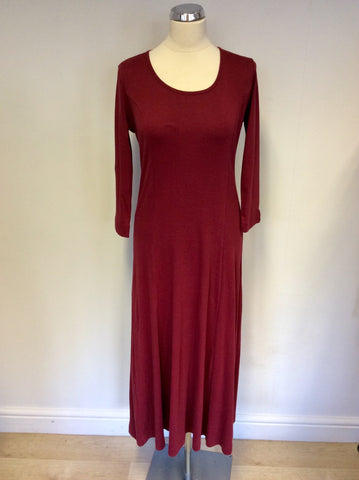 BRAND NEW ADINI CRANBERRY STRETCH COTTON CALF LENGTH DRESS SIZE S