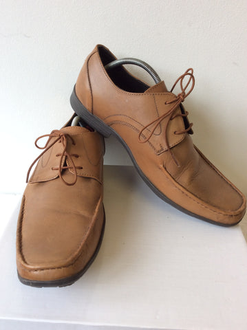 POD CAMEL LEATHER LACE UP SHOES SIZE 8/42