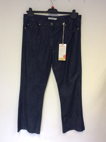 BRAND NEW EMRECO DARK BLUE CHLOE BOOT CUT JEANS SIZE 18
