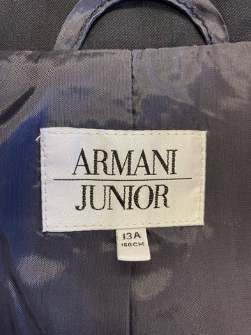 BOYS ARMANI JUNIOR NAVY BLUE 100% WOOL TROUSER SUIT AGE 13/ 160 CMS