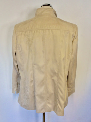 BRAND NEW ARTIGIANO NATURAL SUEDE FEEL WEEKEND JACKET SIZE 20