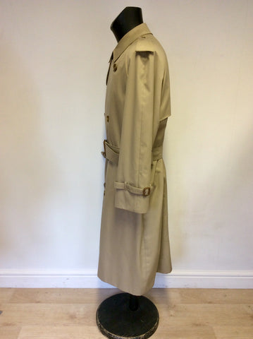 AQUASCUTUM HONEY BELTED TRENCH COAT SIZE L
