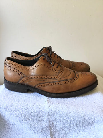 TED BAKER TAN BROWN LEATHER LACE UP BROGUE SHOES SIZE 10/44