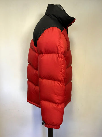 POLO BY RALPH LAUREN RED & BLACK DOWN FILLED PADDED JACKET SIZE M