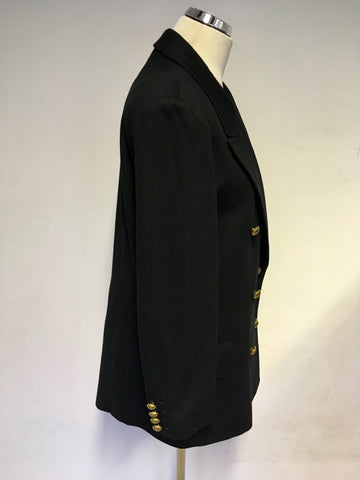 CLASSIC VINTAGE JAEGER WOOL DOUBLE BREASTED BLAZER SIZE 12
