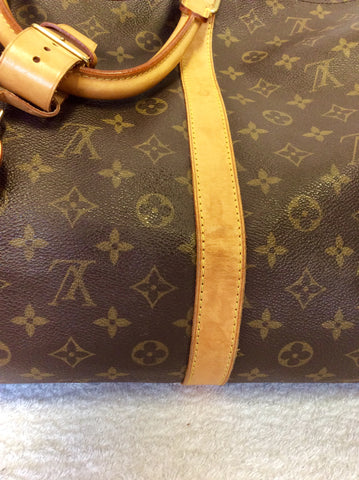 LOUIS VUITTON BROWN MONOGRAM 60 KEEPALL