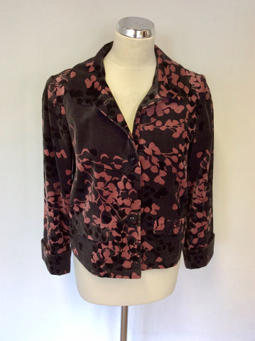 MONSOON DARK GREY,PINK & BLACK BRUSHED COTTON JACKET SIZE 12