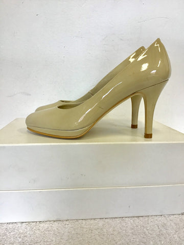 BRAND NEW HB ESPANA CREAM PATENT LEATHER HEELS SIZE 2.5/ 35