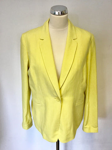 BRAND NEW HOBBS KERNOW LEMON SILK & LINEN JACKET SIZE 14