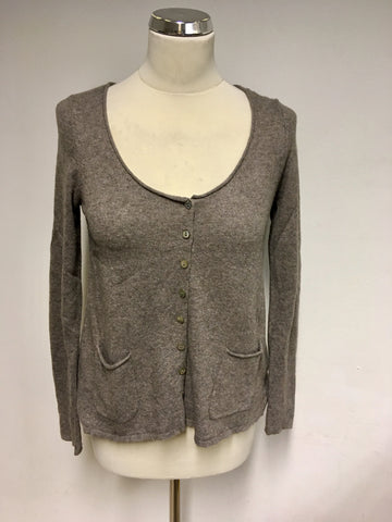 WHITE STUFF WILD MUSHROOM SCOOP NECK CARDIGAN SIZE 10