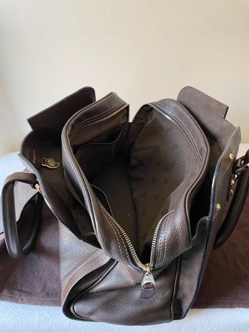 RARE MULBERRY FITZROVIA  DARK BROWN LEATHER TOTE/ SHOULDER BAG