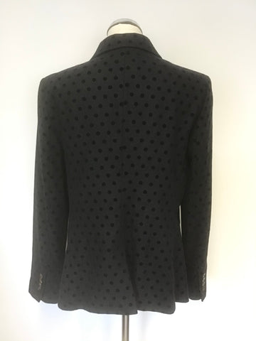 BODEN NAVY BLUE SPOT WOOL BLEND JACKET SIZE 16R