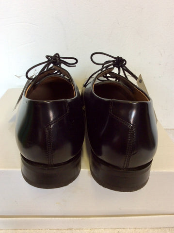 BRAND NEW MARKS & SPENCER COLLEZIONE BLACK LEATHER LACE UP SHOES SIZE 9/43