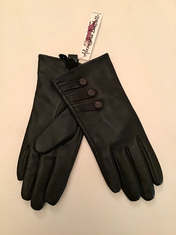 BRAND NEW ALEXANDRA BARTLETT BLACK SOFT LEATHER GOVES SIZE S/P