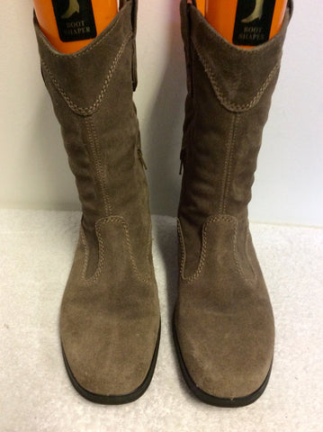 BRAND NEW HOTTER BROWN SUEDE SHORT BOOTS SIZE 8/42