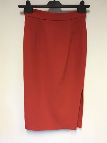 LK BENNETT RED PENCIL SKIRT SIZE 8