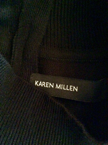 BRAND NEW KAREN MILLEN BLACK SHEER TOP SLEEVELESS JUMPER SIZE 4 UK 14