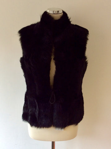 BRAND NEW CELTIC & CO 100% NATURAL BLACK SHEEPSKIN FUR LINED GILET