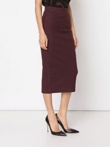 BRAND NEW BY MALENE BIRGER ZIKAS PLUM FINE WOOL BLEND SKIRT SIZE 36 UK 8