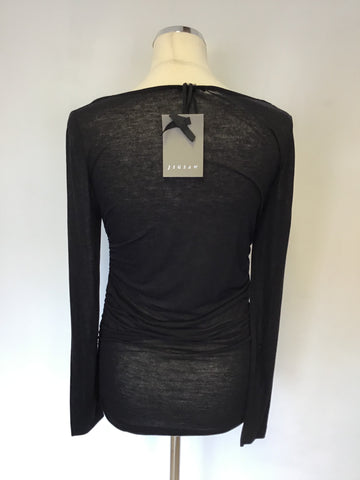 BRAND NEW JIGSAW BLACK COWL NECKLINE LONG SLEEVE TOP SIZE S