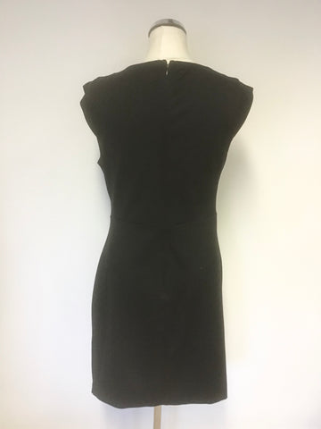 MICHELLE KEEGAN FOR LIPSY BLACK WRAP STYLE PENCIL DRESS SIZE 14