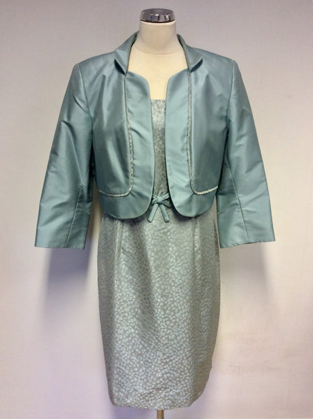BRAND NEW DRESS CODE BY VEROMIA LAPIS BLUE (DUCK EGG) DRESS & JACKET SUIT SIZE 18