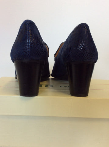 BRAND NEW HB ESPANA DARK BLUE LEATHER TASSEL TRIM HEELS SIZE 6/39