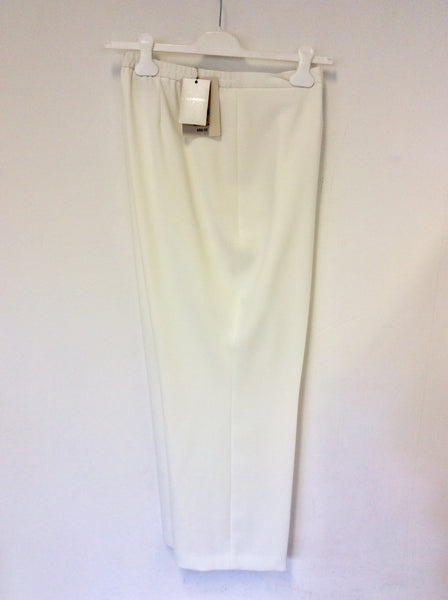 BRAND NEW COLEBROOKE BY WINDSMOOR WHITE FORMAL TROUSERS SIZE 20