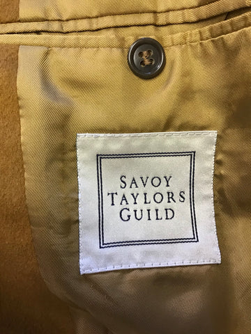 SAVOY TAYLORS GUILD TAN WOOL & CASHMERE BLEND JACKET SIZE 38R