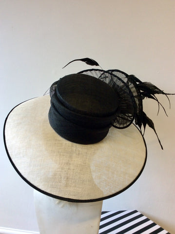 CAPPELLI CONDICI NATURAL & BLACK WIDE BRIM FORMAL HAT
