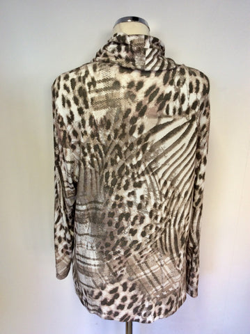 BRAND NEW BARBARA LEBEK PRINT COWL NECK TOP SIZE 20