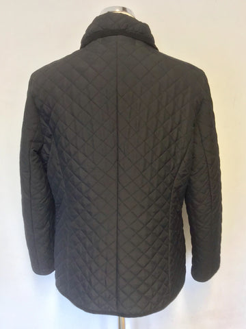 AUSTIN REED BLACK QUILTED JACKET SIZE M