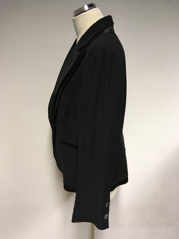 BRAND NEW PER UNA BLACK TUXEDO EVENING JACKET SIZE 18