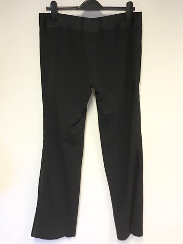 DOLCE & GABANNA BLACK WOOL BLEND EVENING TUX TROUSERS SIZE 46 UK 14