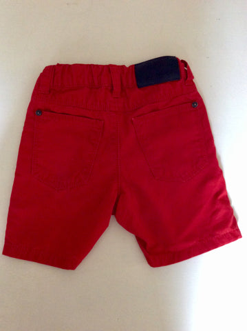 HUGO BOSS RED COTTON SHORTS AGE 9 YEARS