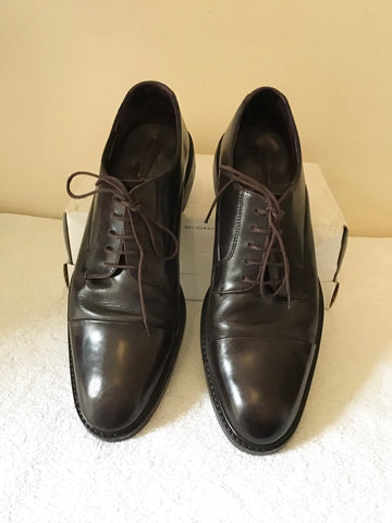TED BAKER DARK BROWN LEATHER LACE UP SHOES SIZE 9/43