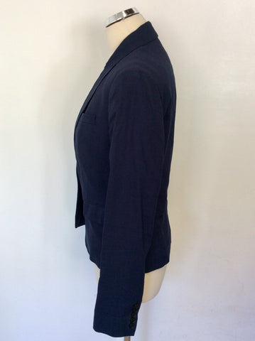 JOSEPH DARK BLUE LINEN BLEND JACKET SIZE 40 UK 12