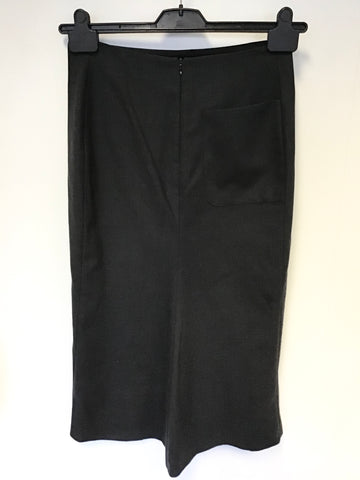 JOSEPH DARK GREY WOOL PENCIL SKIRT SIZE S UK 10